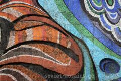 mosaic on Laguna Vere swimming pool facade