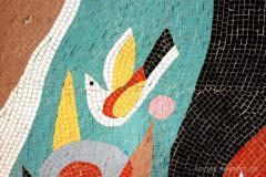 mosaic on road to Rustavi - detail