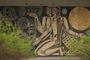 mosaic in Didube Exhibition Park