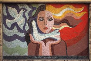 mosaic on Chkhondideli street