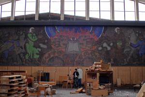 """mosaic """"Prometheus"""" in National Scientific Library"""
