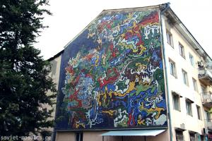 Facade of living house